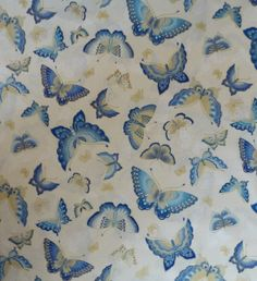 Cotton Fabric, Home Decor Fabric, Quilt Cotton,Clothing Fabric, Butterflies,Imperial Collection 10 by Robert Kaufman, Beautiful Butterflies