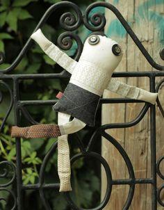 Les jumeaux - Mélilot 4 - poupée de chiffon aimantée - faite à la main à Montréal - 2015 - Anouk Kouri disponible à la Boutique Les jeux, Val David