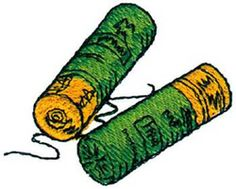 Shotgun Shells embroidery design