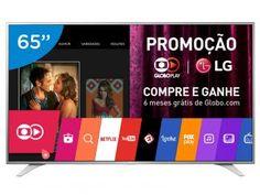 """Smart TV LED 65"""" LG 4K Ultra HD 65UH6500 - Conversor Digital 3 HDMI 1 USB Wi-Fi"""