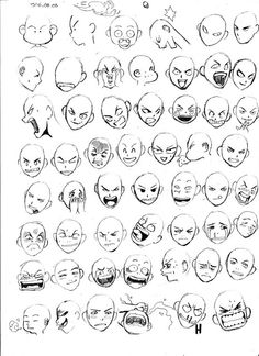 Expressions on Behance - Drawing Base, Manga Drawing, Drawing Sketches, My Drawings, Drawing Tips, Facial Expressions Drawing, Drawing Expressions, Cartoon Faces Expressions, Art Reference Poses