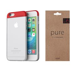 iPhone Case Screen Protector Film Araree Pops Pure Red Package for Apple 6s Plus Case, 6 Case, Apple Iphone 6s Plus, Red Apple, Screen Protector, Packaging, Pure Products, Pop, Ebay
