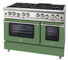 BlueStar recast its Platinum range in a new shade of grassy green; starting at $11,127.  bluestarcooking.com