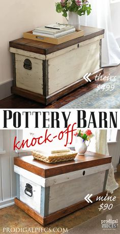 Diy house projects rustic pottery barn 36 new ideas Pottery Barn Hacks, Pottery Barn Furniture, Painted Furniture, Furniture Projects, Furniture Makeover, Home Projects, Diy Furniture, Knock Off Decor, Tips & Tricks