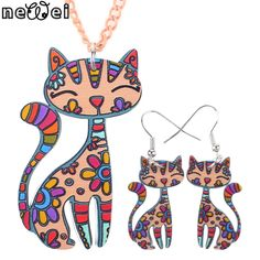 Newei Brand Jewelry Sets Cat Pendant Drop Earrings New 2015 Statement Fashion Jewelry For Women Charm Collar Accessories♦️ SMS - F A S H I O N 💢👉🏿 http://www.sms.hr/products/newei-brand-jewelry-sets-cat-pendant-drop-earrings-new-2015-statement-fashion-jewelry-for-women-charm-collar-accessories/ US $4.15