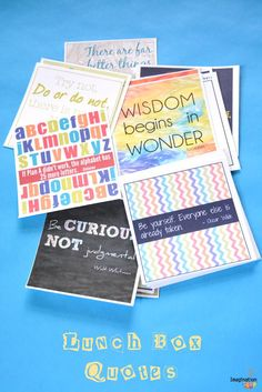 FREE PRINTABLE!! 20 Inspiring Back-to-School Quotes for Kids (Great for Lunch Boxes!)