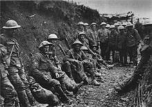 Mud stained British soldiers at rest - Royal Irish Rifles in a communications trench, first day on the Somme, World War I, World History, Kim Kardashian, Pictures Of Soldiers, Ww1 Soldiers, Battle Of The Somme, Global Conflict, Austrian Empire, Fact Of The Day
