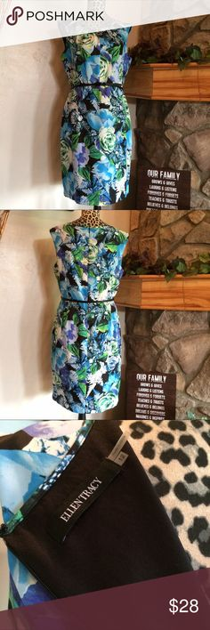 Ellen Tracy Dress Ellen Tracy dress. Easy care wash and dry for the busy working lady. Beautiful floral, lined and comfortable to wear for summer. Like new condition. Great for any event!🌸 Ellen Tracy Dresses