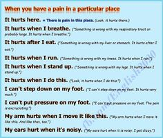 Forum | Learn English | Phrases to Say When You Have a Pain in a Particular Place | Fluent Land