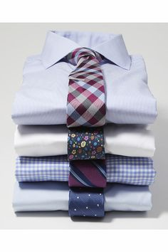 The Combo Bar - Shirt and Tie Combinations Shirt And Tie Combinations, Color Combinations For Clothes, Mens Shirt And Tie, Shirt Tie Combo, Little Man Style, The Office Shirts, Men Style Tips, Men Dress, Mens Fashion