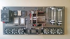 My Wall Mounted, Water Cooled PC em 2019    Casemod   Pinterest ... 633a00aa72