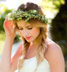 Flower Crown and Simple Braids! Perfect for a Medieval Wedding <3