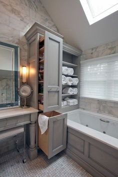 46 Charming Small Bathroom Storage Remodel Ideas Bathroom Cabinet Ideas to Tidy up Your Bathroom Diy Bathroom, Small Bathroom Storage, Bathroom Organization, Bathroom Furniture, Storage Spaces, Organization Ideas, Storage Ideas, Bathroom Ideas, Bathroom Faucets