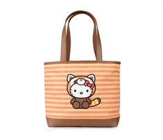 Hello Kitty Wildlife Canvas Tote: Red Panda