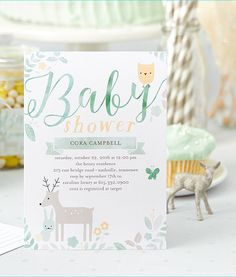 Woodland whimsy is the cutest theme this spring. Shop baby shower invitations for any mom-to-be on Tiny Prints.