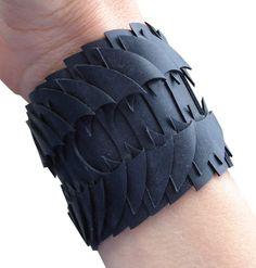 innertube rubber black bracelet recycled.