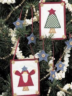 Quilting - Christmas Decorations & Wall Quilts - Quilted Ornaments Free Pattern