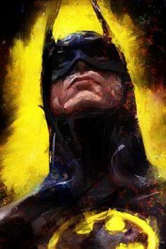 Batman - Who is this artist? Batman Wallpaper, Batman Artwork, Batman Painting, Batman Fan Art, Batman Drawing, Batman Poster, Arte Dc Comics, Bd Comics, Marvel Comics