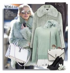 """""""Winter Scarf Style"""" by breathing-style ❤ liked on Polyvore featuring rag & bone, Topshop, Miss Selfridge, Prada and Yves Saint Laurent"""