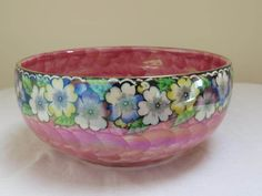Your place to buy and sell all things handmade Lustre Rose, English Pottery, Floral Border, Vintage Pink, Decorative Bowls, Lilac, Colours, Prints, Etsy