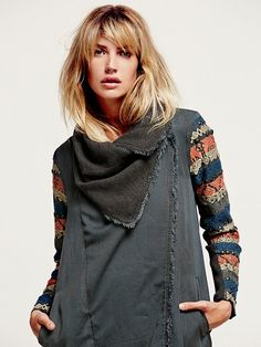 Free People Embroidered Sleeve Tencel Coat at Free People Clothing Boutique (DETALL: coll)