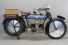 Старинный мотоцикл Douglas Model WD-20 1920