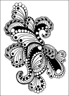 Zentangle, or Zendoodle, is the new drawing craze that everyone's talking about! Whether you're a doodler or an experienced artist, you can Zentangle! Doodles Zentangles, Zentangle Drawings, Doodle Drawings, Doodle Art, Tangle Doodle, Tangle Art, Zen Doodle, Doodle Designs, Doodle Patterns