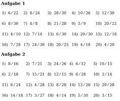 Mathe ist einfach: Brüche kürzen Blatt 2 #bruchrechnen #aufgaben ...
