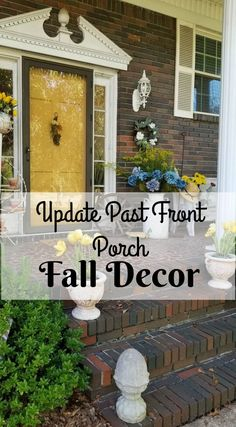 Update Past Front Porch Fall Decor ~ Southern Gardening Gal Blue Fall Decor, Fall Home Decor, Autumn Home, Outdoor Living Areas, Outdoor Rooms, Decorating On A Budget, Porch Decorating, Fast Growing Trees, Creative Decor