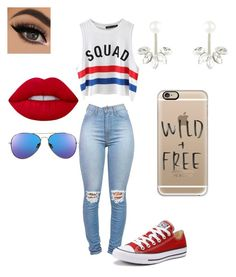 """squad"" by tabbytha-walsh ❤ liked on Polyvore featuring Chicnova Fashion, Converse, Lime Crime, Accessorize and Casetify"