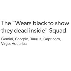 Zodiac Signs and Black