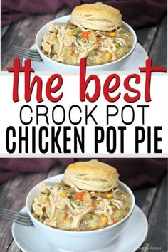 The Best Crock pot Chicken Pot Pie Recipe – Easy Chicken Pot Pie! The Best Crock pot Chicken Pot Pie Recipe – Easy Chicken Pot Pie!,Eating on a Dime This is the best chicken. Easy Pie Recipes, Easy Chicken Recipes, Best Easy Dinner Recipes, Dessert Recipes, Healthy Recipes, Slow Cooker Huhn, Slow Cooker Recipes, Beef Recipes, Best Crockpot Recipes