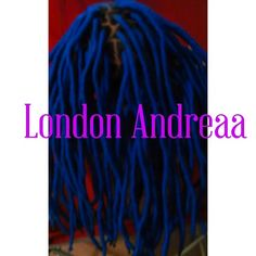 Blue Faux Locs done by me 470-839-0946