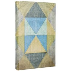 Take organization to a whole new level with this Green & Blue Triangles Lined Book Box! This fun book box features an antiqued faux leather finish in shades