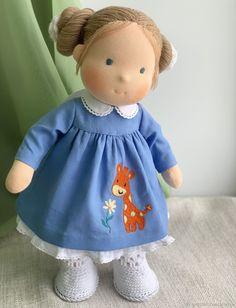 Natalie-Waldorf doll – shop online on Livemaster with shipping - Doll Clothes Patterns, Doll Patterns, Plush Dolls, Rag Dolls, Dou Dou, American Girl, Felting Tutorials, Waldorf Toys, Doll Shop