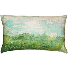 Van Gogh's painting, Green Wheat Fields, is believed to have been painted in Avers-sur-Oise in This beautiful scene is reproduced her on this rectangular pillow. Green Throw Pillows, Outdoor Throw Pillows, Throw Pillow Covers, Decorative Throw Pillows, Van Gogh Famous Paintings, Wheat Fields, Green Grapes, Lumbar Pillow, Pillow Inserts