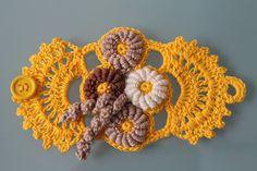 Freeform Crochet Bracelet ♥ by lucylev on Etsy, $27.00