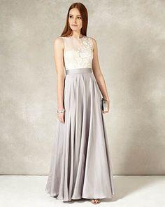 Phase Eight Clarabella Full Length Dress Grey