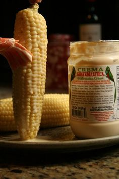 "Mexican Street Corn - this is the ""right way"" with Crema!  Love It!! G"