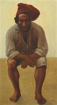 Portrait of a fisherman, Anton Laurids Johannes Dorph