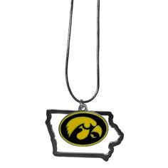 """Checkout our #LicensedGear products FREE SHIPPING + 10% OFF Coupon Code """"Official"""" Iowa Hawkeyes State Charm Necklace - Officially licensed College product Necklace comes with 2 charms Metal outline state charm Snake chain is 16 inches with 2 inch extender High polish Iowa Hawkeyes charm - Price: $20.00. Buy now at https://officiallylicensedgear.com/iowa-hawkeyes-state-charm-necklace-csn52"""