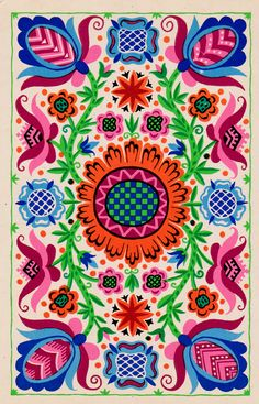 Estonian pattern (from the Patterns of the Soviet Republics postcard set, 1970)