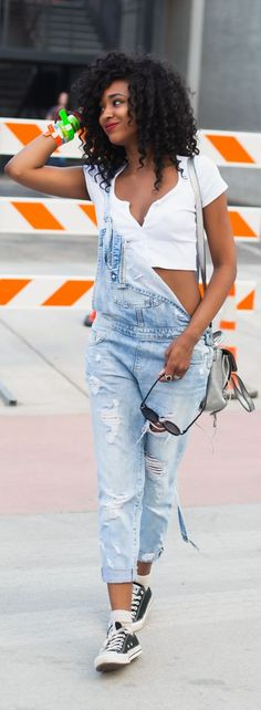 Ripped Overalls Cool Style