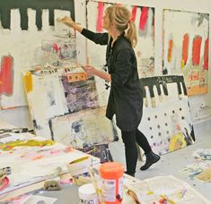 Line Juhl Hansen/danish artist in her studio... I want to have a space like this to paint and paint and paint