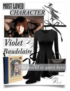 """""""Violet Baudelaire - A Series of Unfortunate Events"""" by evol-love ❤ liked on Polyvore featuring J.Crew, Baudelaire, Kurt Geiger and Givenchy"""