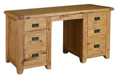 Chateau Double Pedestal Dressing Table/Desk. Available to order online at www.homewoodinteriors.co.uk