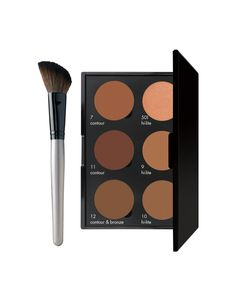 Jaza Cosmetics dark skin contour palette and contour brush- coming soon!