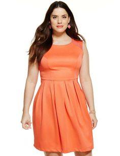 Orange plus size dress