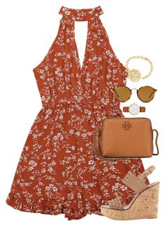 """Going homecoming dress shopping today!!!"" by amberfmillard-1 ❤ liked on Polyvore featuring Tory Burch, Kate Spade and Ray-Ban"