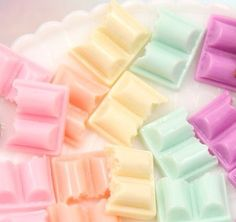 Candy Resin Cabochons - 23mm Cute Pastel Colorful Chocolate Chunk Bar Resin…